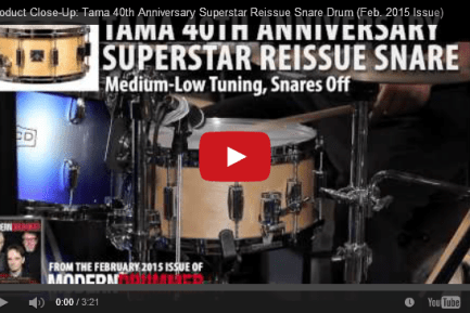 VIDEO! Product Close-Up: Tama Superstar Reissue Snare (From the Feb. 2014 Issue)