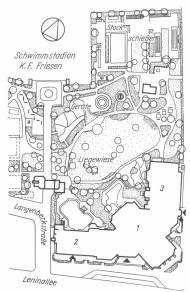 Berlin-Friedrichshain, Sport- und Erholungszentrum (Bildquelle: Architektur von Pankow bis Köpenick, 1987, S. 103)