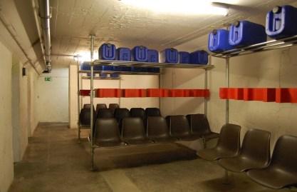 Berlin, reaktivierte Zivilschutzanlage, Blochplatz, Sitzraum (Bild: Holger Happel)