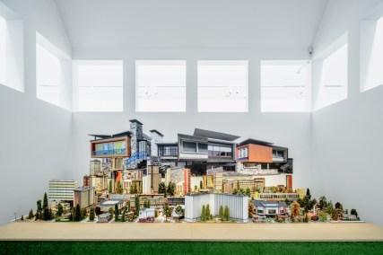 """Frankfurt, """"märklinMODERNE"""" startet im Deutschen Architekturmuseum (Modellbau: Gerald Fuchs, Foto: Moritz Bernoully)"""
