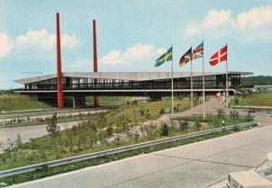 Brückenraststätte Dammer Berge (Bild: Postkarte, wohl 1970er Jahre)