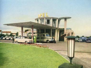 Freiburg, Turmrestaurant (Bild: historische Abbildung, nach 1951)