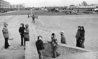 """Garbsen, """"Auf der Horst"""", von-Woyna-Platz, 1973 (Foto: Wilhelm Bartling, Bild: Stadtarchiv Garbsen)"""