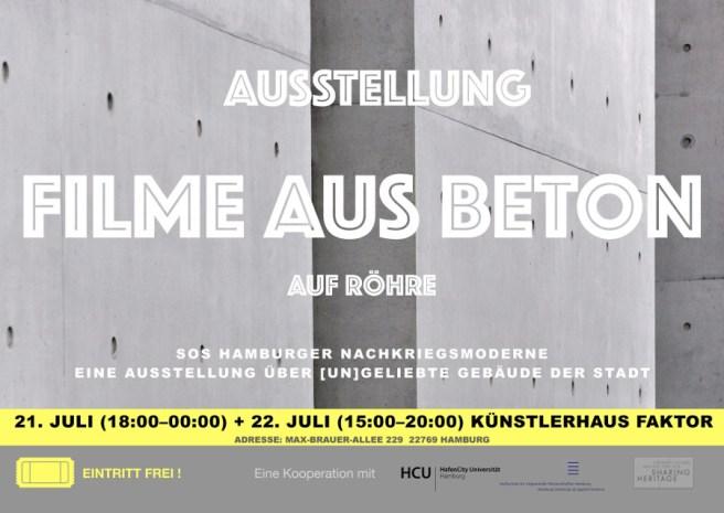 """Plakat (Bild: Initiative """"Filme aus Beton"""", Hamburg)"""