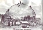 Jena, Zeiss-Planetarium, Aubau der Kuppel (Bild: historische Abbildung, Scan: EdieT, CC BY SA 4.0)