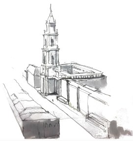 "Potsdam, Rechenzentrum, Studierenden-Entwurf ""Kirche pilgert"" (Tim Freytag, FH Potsdam, Betreuer: Michael Rosin)"