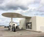 Skovshoved, Tankstelle von Arne Jacobsen (Bild: katzeohnenamen)