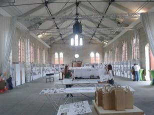Lutherstadt Wittenberg, Exerzierhalle, Ausstellung zur Kirchennutzung vom Marburger Kirchbauinstitut und der Wüstenrot Stiftung, 2017 (Bild: Karin Berkemann)