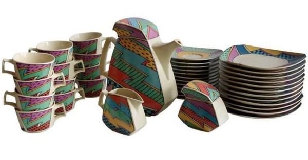 """Kaffee- und Teeservice """"Flash one"""" von Rosenthal, 1982, Dorothy Hafner (Bild: beautifulnow.is)"""