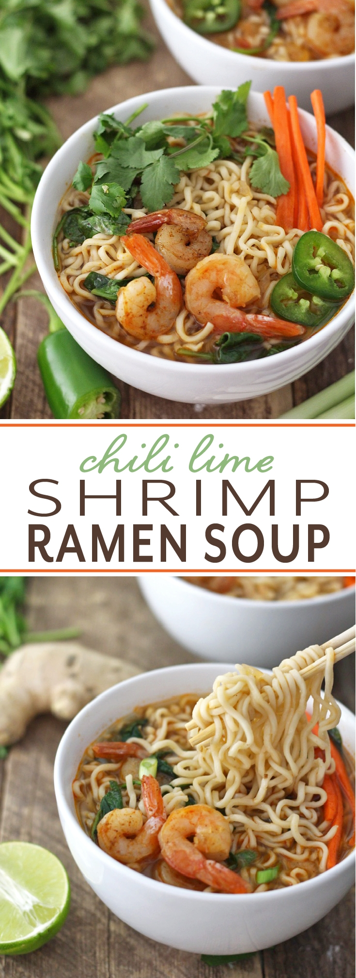 Perfect recipe to satisfy those adult cravings for ramen! Easy to make with vegetable broth, chili seasoning, shrimp and lots of ramen noodles.