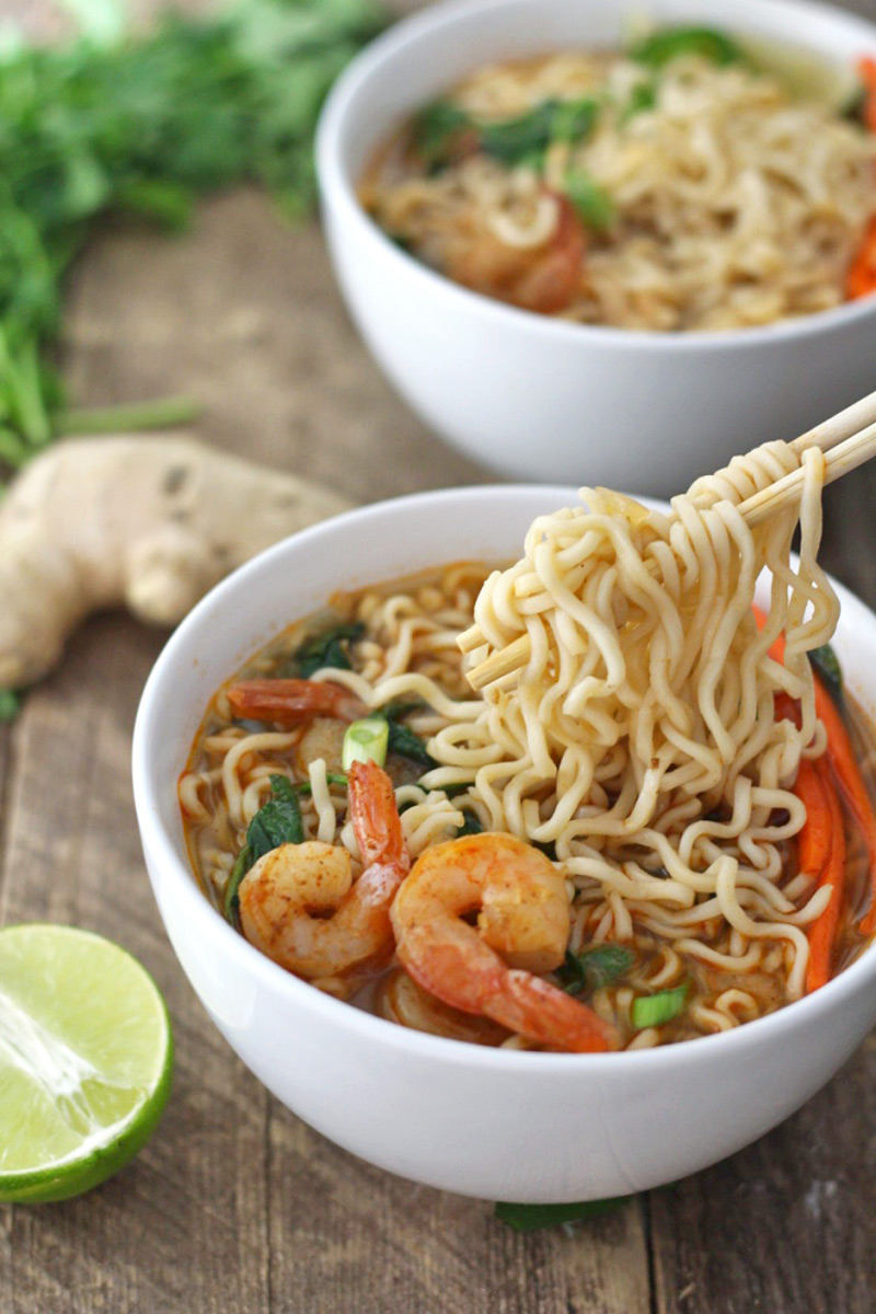 Chili lime shrimp ramen