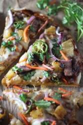 Hawaiian Pork Chop Pizza