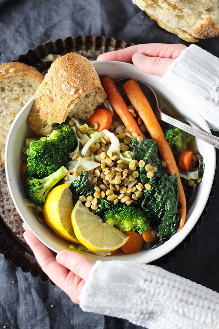 Crockpot Italian Vegetable & Lentil Detox Soup