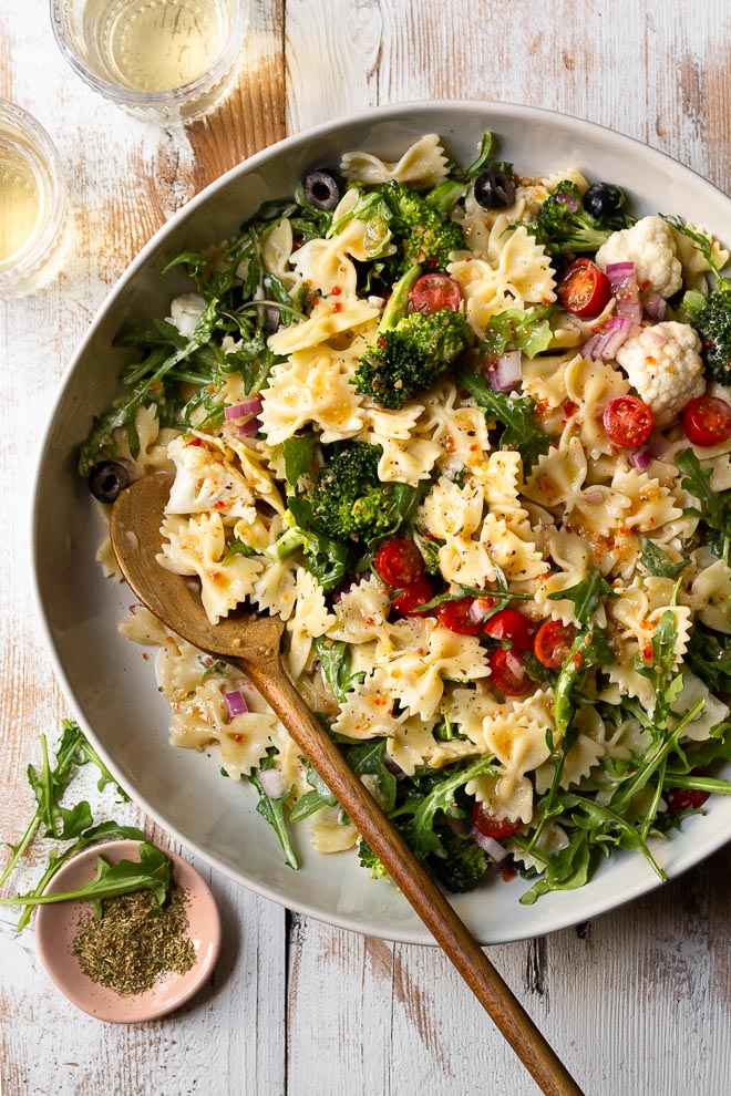 Creamy Italian Ranch Pasta Salad
