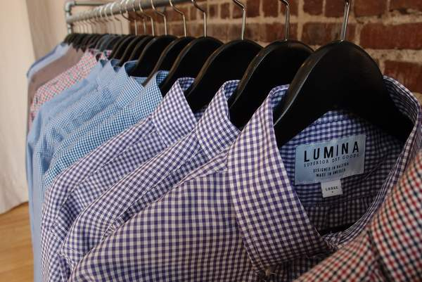 Lumina Clothing shirts close up