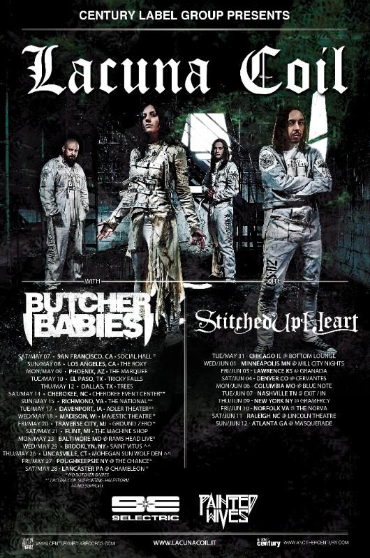 lacuna coil butcher babies 9electric stitched up heart 2016 tour