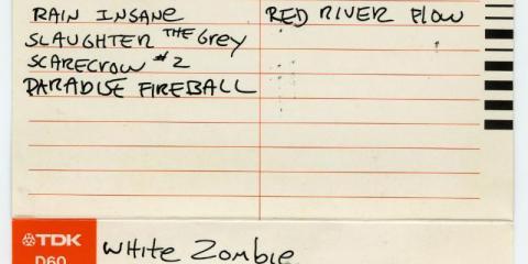 white zombie original private cassette track listing