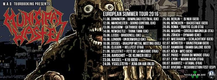 municpal waste summer euro 2016 tour