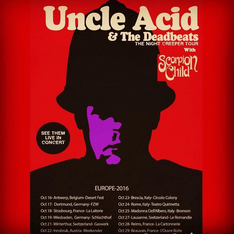 uncle acid and the deadbeats scorpion child tour 2016