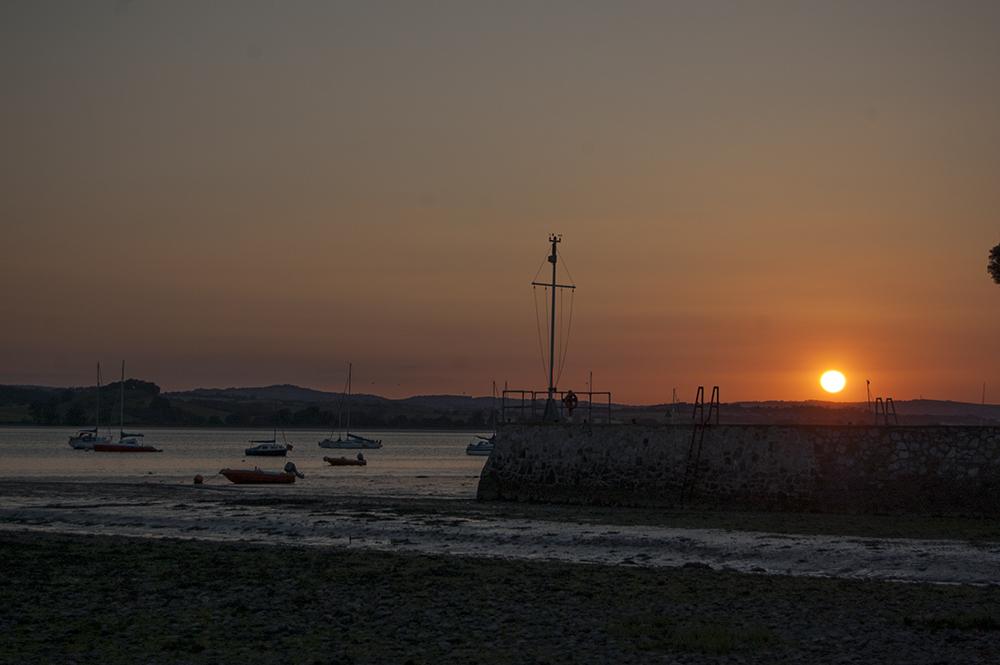 Sunset over the Exe Estuary near Lympstone, Devon