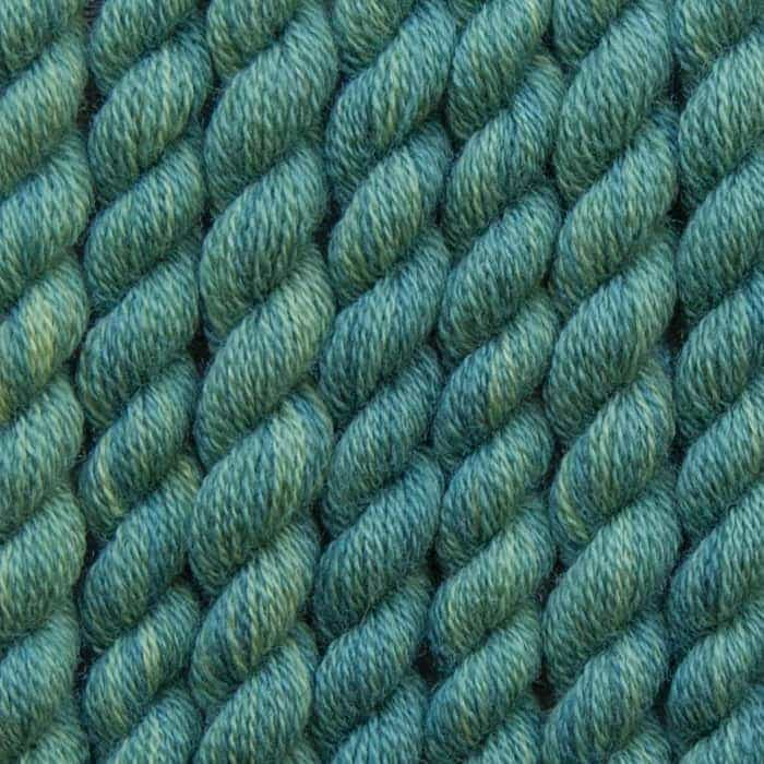 pine green hand dyed embroidery wool