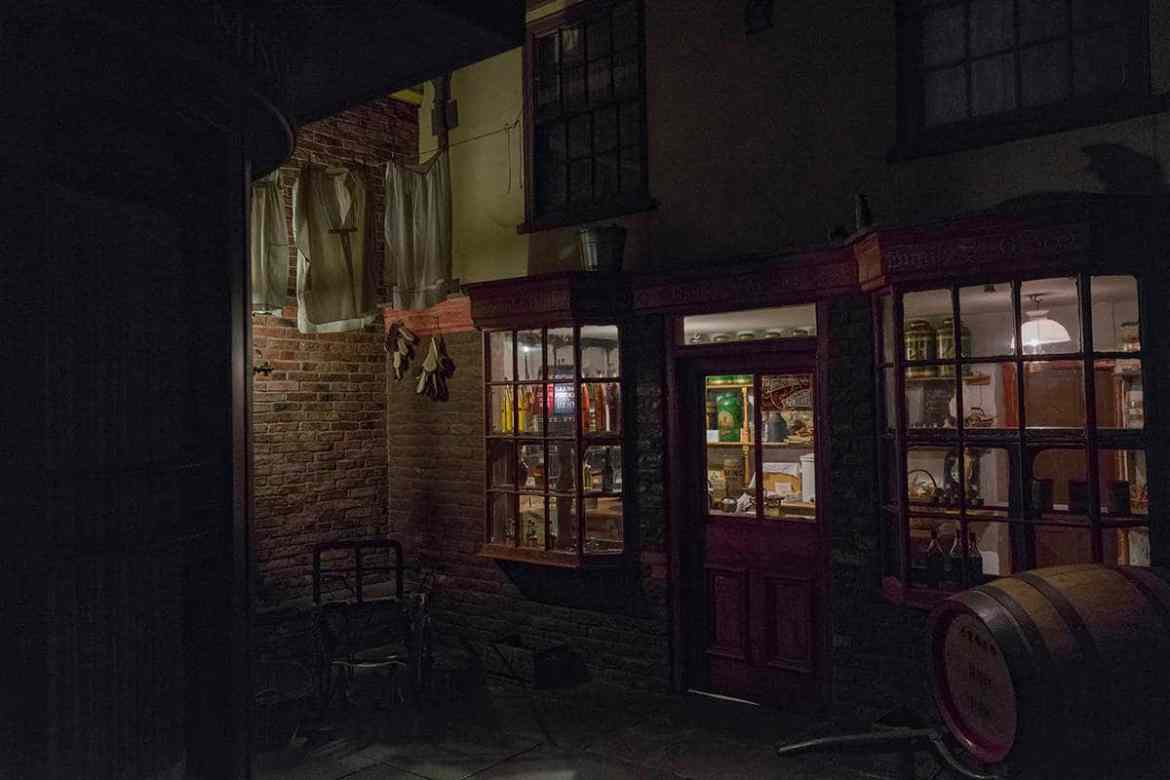 Old shops in the York Castle Museum