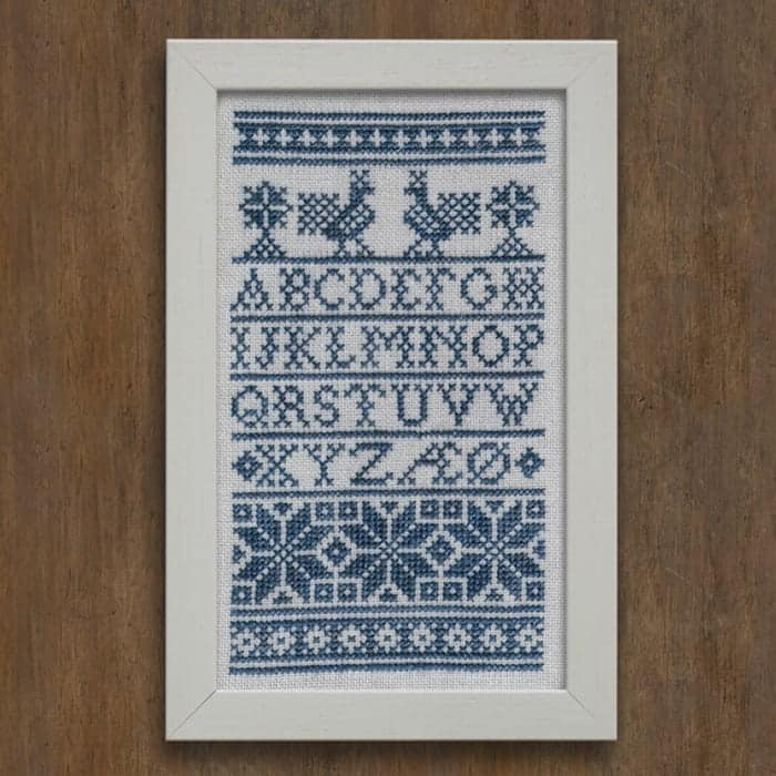 A Danish Schoolhouse Sampler - Traditional Alphabet Sampler PDF Download Cross Stitch Embroidery Pattern