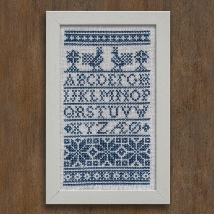 A Danish Schoolhouse Sampler - Traditional Alphabet Sampler PDF Download Cross Stitch Embroidery Pattern