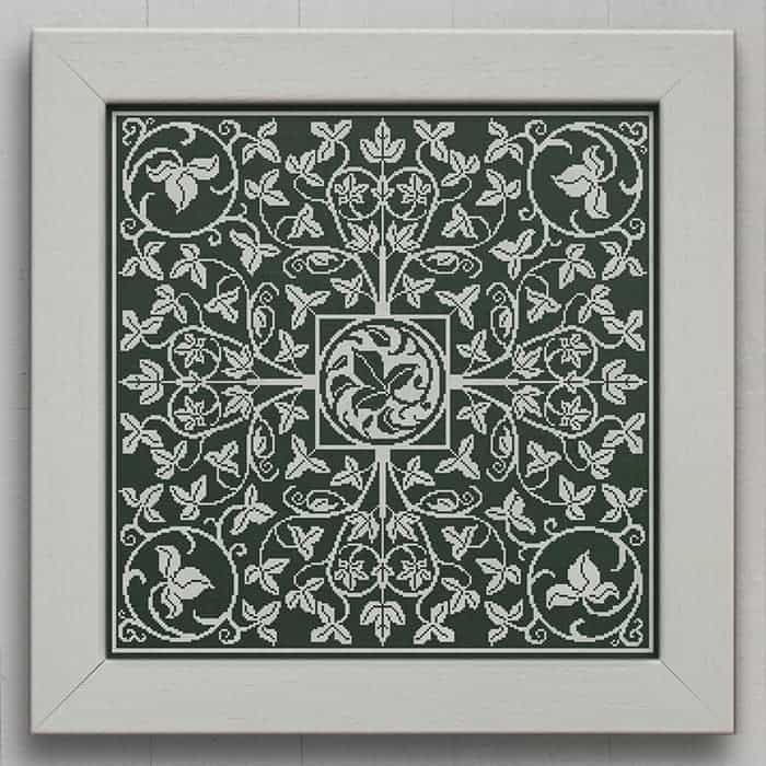 The Ivy Green - Victorian Style Cross Stitch Embroidery Pattern