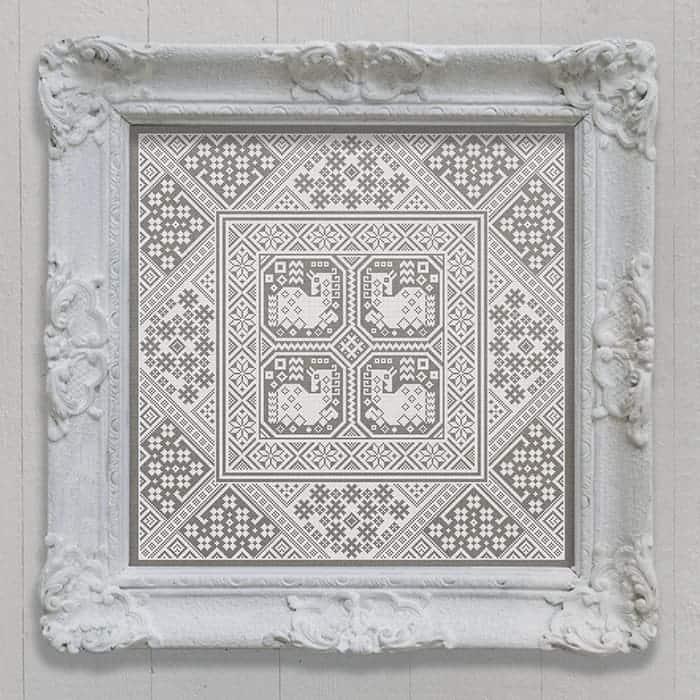 Swedish Horses - A Cushion Pattern, original cross-stitch design by Modern Folk Embroidery