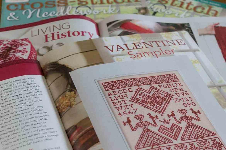 My Norwegian Valentine - An Alphabet Sampler. Original cross-stitch design by Modern Folk Embroidery, as featured in Cross-Stitch & Needlework Magazine