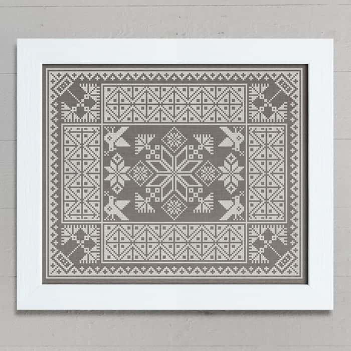 A Slavic Cushion Pattern - original Cross Stitch Chart by Modern Folk Embroidery