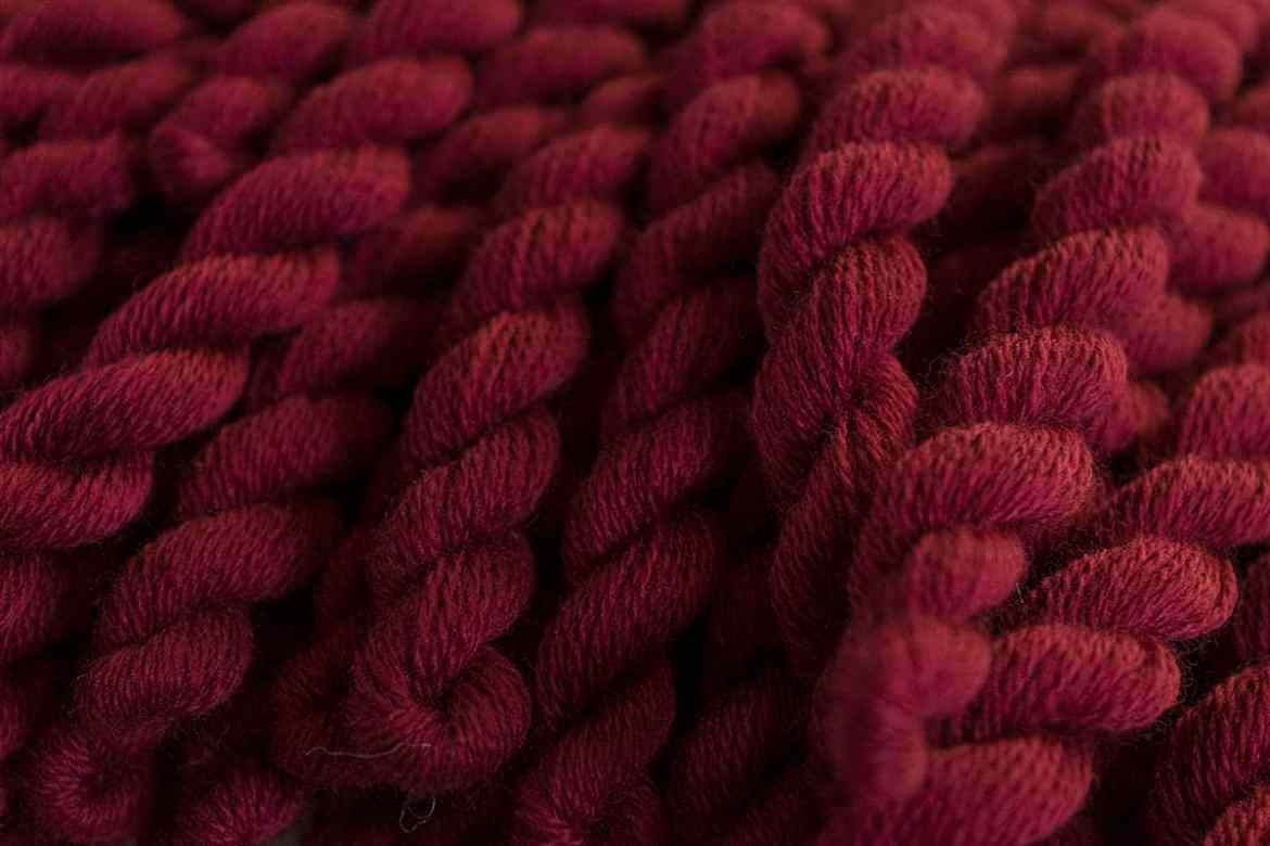 Tudor Red: Hand-dyed with only natural dyes by Modern Folk Embroidery