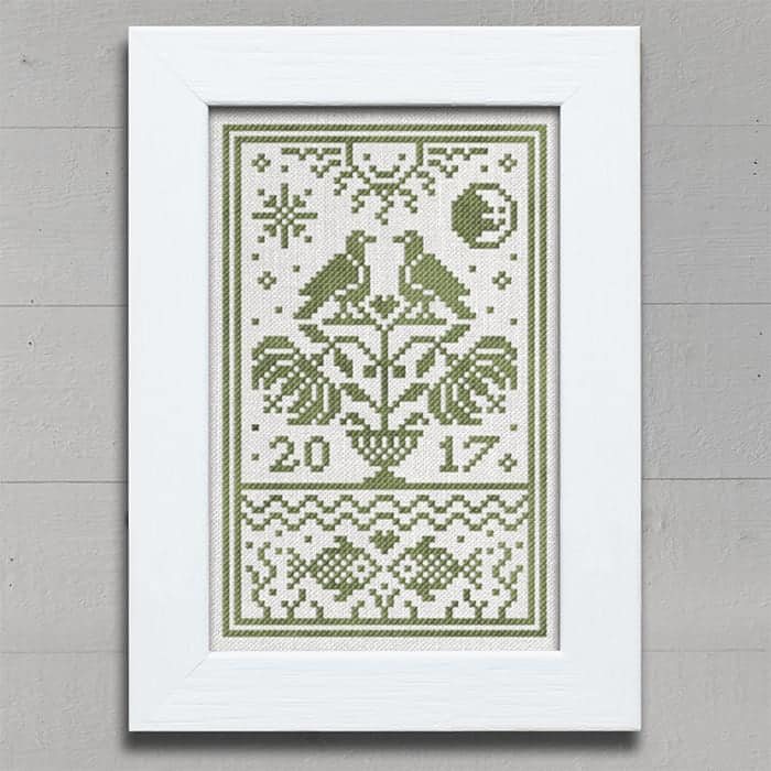 Earth Day - Free Cross Stitch Chart from Modern Folk Embroidery