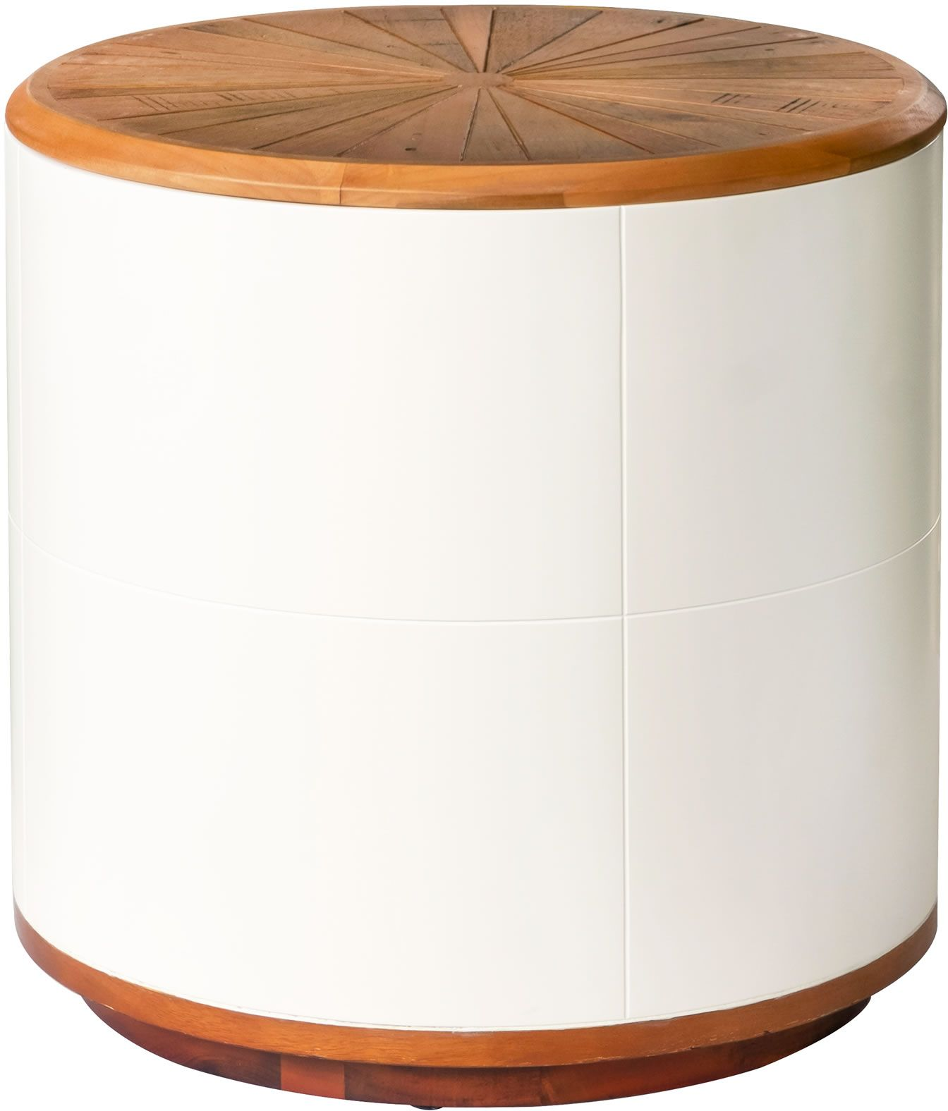Lh Imports Casablanca Round Side Table Stool With Storage Cb036 Modern Furniture Canada