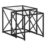 Spec Designs By Monarch Specialties Skaudal Nesting Tables Set Of 2 Black I 3448 Modern Furniture Canada