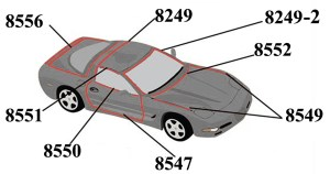 C5 Corvette 19972004 Roof And Window Weatherstripping