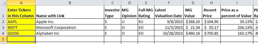 Enhanced Spreadsheet 2