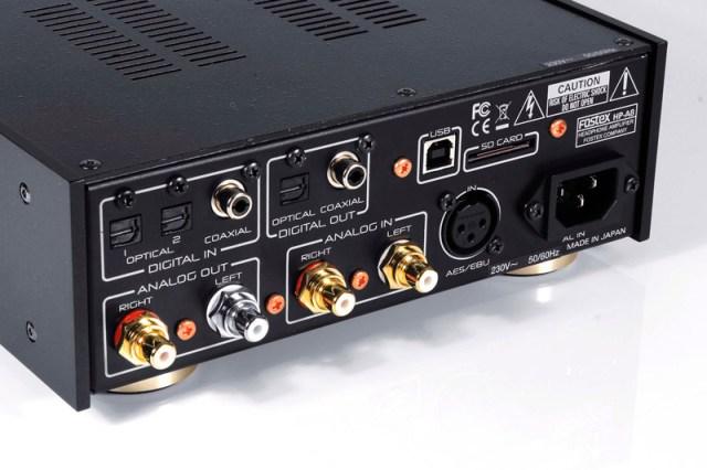 Fostex-HP-A8C-Test mit USB,- AES/EBU, Koax- und TOSLINK-Eingängen