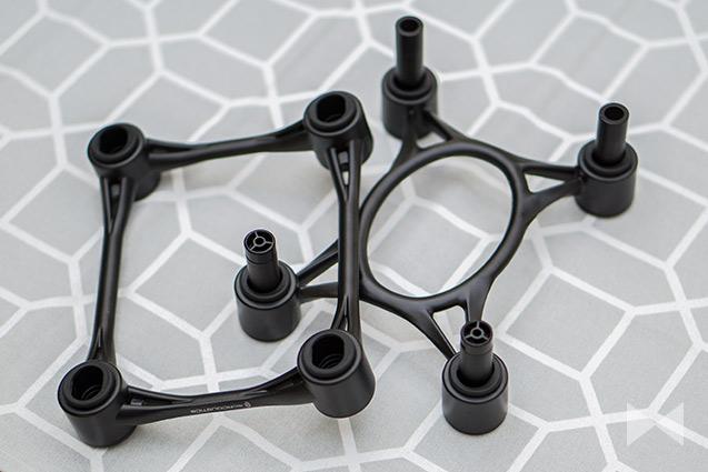 patentierte, gummigelagerte Konstruktion zur Schallabsorption