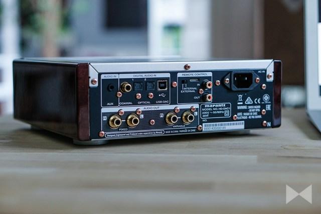 Marantz HD-DAC1 Anschlüsse auf der Rückseite