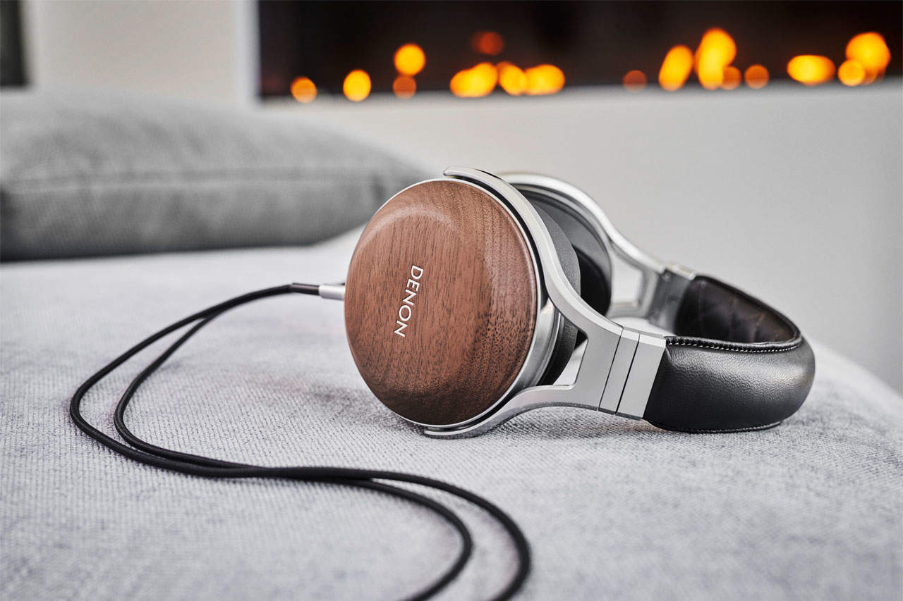 Denon AH-D7200 Over-Ear-Kopfhörer aus Walnussholz