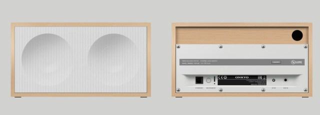Onkyo NCP-302 Vorder- und Rueckseite des FireConnect-Lautsprechers