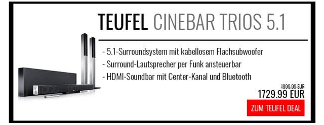 Teufel Cinebar Trios Surround 5.1 Set L kaufen
