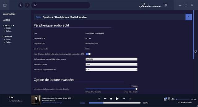 Audirvana Plus für Windows 10 HiFi-Audio-Player