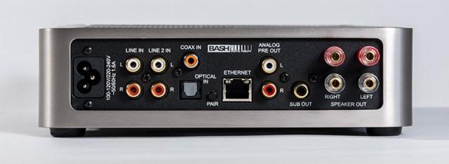 Elac Discovery DS-A101-G Anschlüsse Analog Digital Koax TOSLINK Ethernet Lan