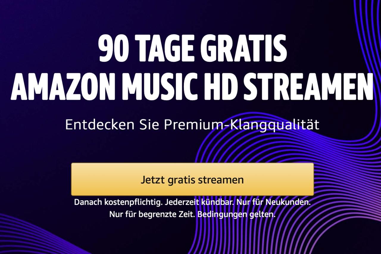 Amazon Music HD: 90 Tage gratis streamen in 24 Bit / 192 kHz