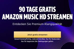 Amazon Music HD: 90 Tage gratis streamen in 24 Bit / 192 kHz