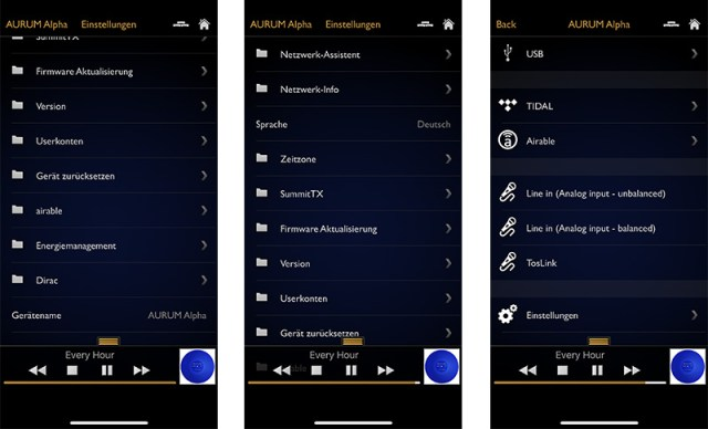 Quadral Aurum Alpha mit Aurum Player App für iOS und Android