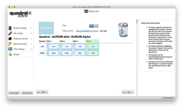 Quadral DIRAC Live  Software für Mac und Windows